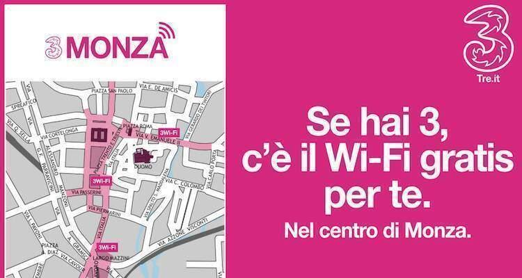 Immagine promozionale del nuovo servizio 3Wi-Fi di 3 Italia