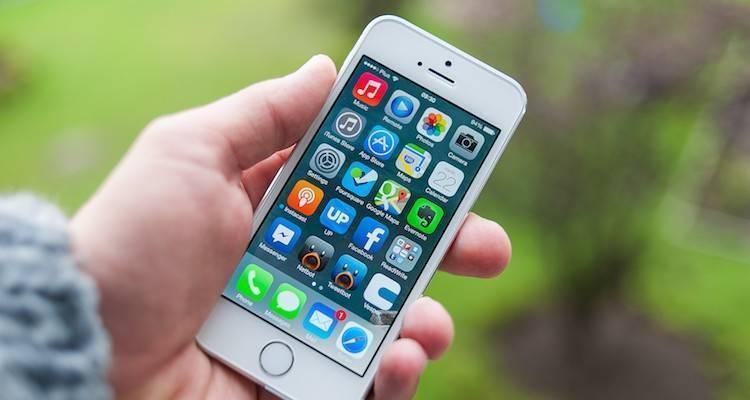 Foto che mostra la Home Screen dell'iPhone 5S