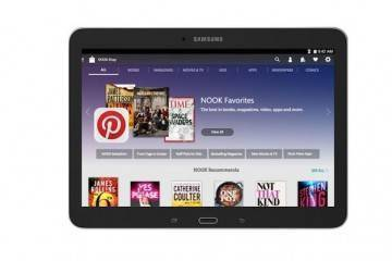 Immagine frontale del nuovo Galaxy Tab 4 10.1 Nook