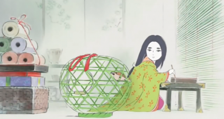 Kaguya, protagonista de La storia della Principessa Splendente