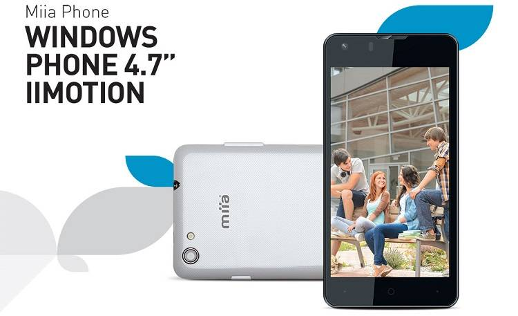 Miia Iimotion MWP-47, primo Windows Phone 8.1 del produttore