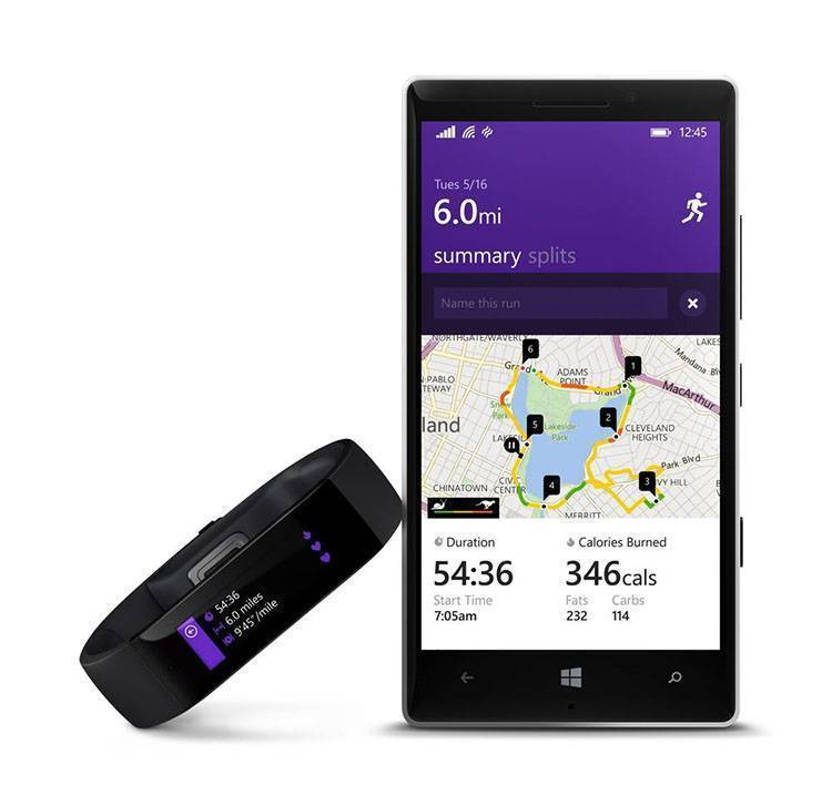 Microsoft Band windows phone