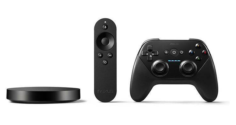 Immagine di Nexus Player, set-top box con Android TV realizzato in collaborazione con ASUS.