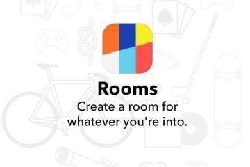 Screenshot del logo dell'app Rooms di Facebook