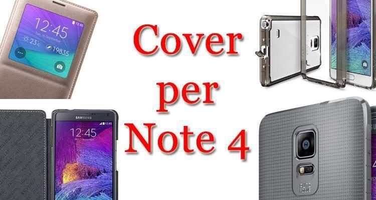 Locandina articolo sulle migliori cover per il Samsung Galaxy Note 4