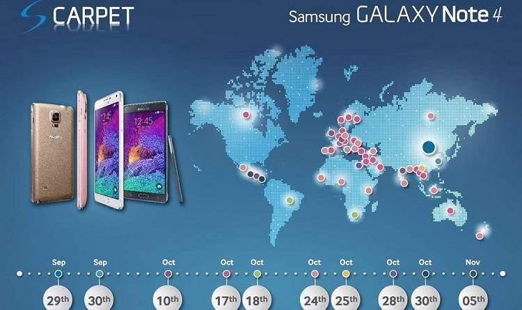 Samsung Galaxy Note 4: le date ufficiali per l'Europa