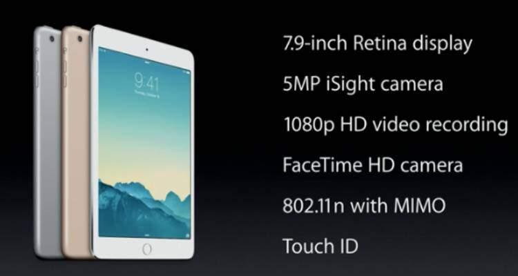 Apple Ipad Mini 3 ufficiale da 399$