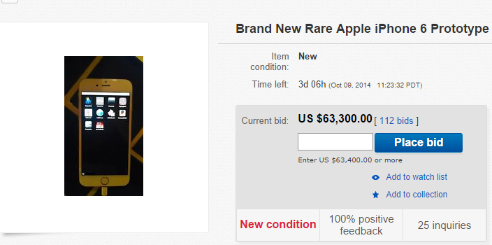 Prototipo di iPhone 6 all'asta su eBay