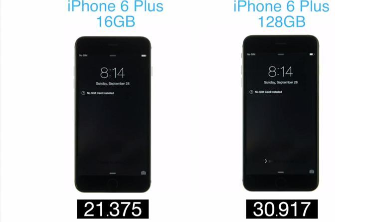 iPhone 6 Plus da 128GB più lento rispetto alla variante 16GB