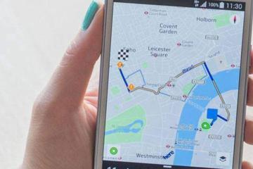 Immagine di Nokia Here per Android, servizio di mappe del produttore finlandese.