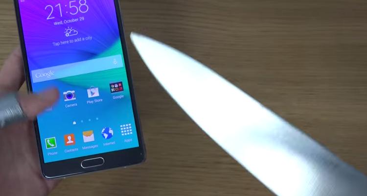 Prova del coltello di Samsung Galaxy Note 4