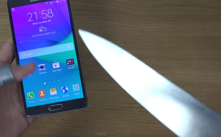 Samsung Galaxy Note 4 alla prova del coltello: quale risultato?