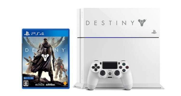 La console PlayStation 4 con il gioco Destiny