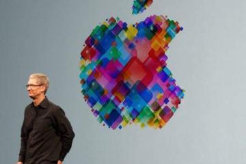 Foto di Tim Cook scattata durante un keynote Apple