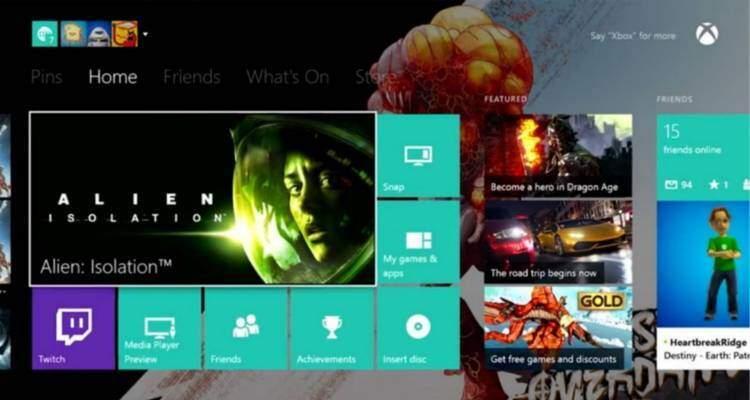 Dashboard Xbox One aggiornata.