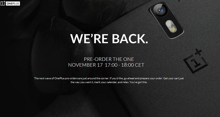 OnePlus One: preordini aperti domani 17 novembre dalle ore 17.00