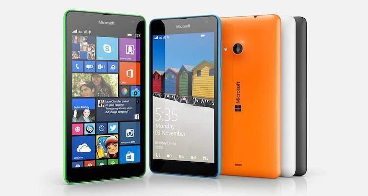 Immagine di presentazione presente sul sito Microsoft dello smartphone Lumia 535