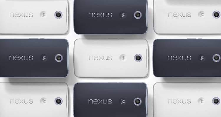 Immagine di presentazione del nexus 6 presente sul sito web ufficiale