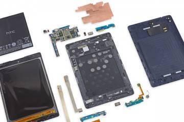 Foto del teardown del Nexus 9 eseguito da iFixit