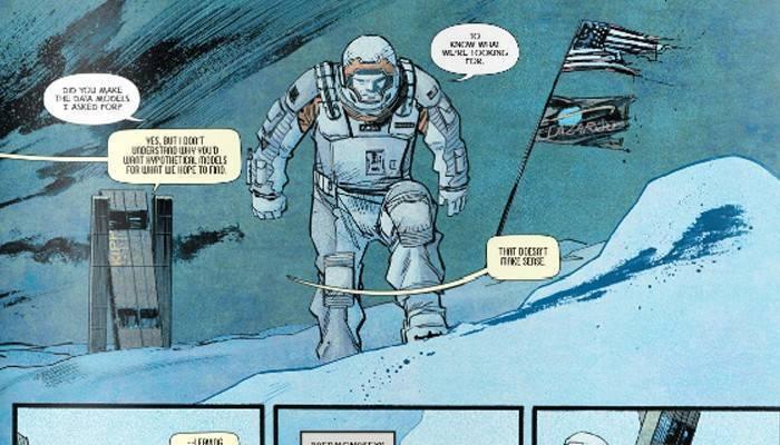 Una pagina del prequel a fumetti di Interstellar