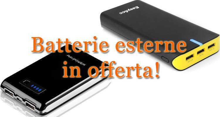 Batterie esterne per smartphone e tablet in offerta su Amazon!