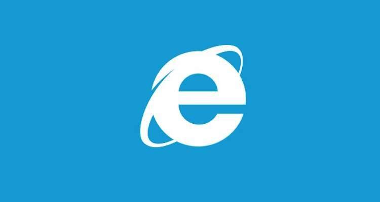 Immagine che mostra il logo di IE