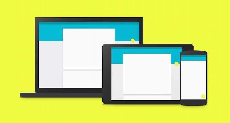 Immagine di presentazione di Material Design presente sul sito web ufficiale