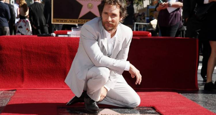 Matthew McConaughey vera e propria stella di Hollywood