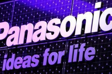 Foto che mostra logo e slogan di Panasonic