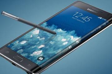 Immagine di Samsung Galaxy Note Edge, nuovo phablet Android con display piegato.
