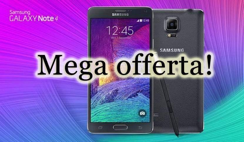 Samsung Galaxy Note 4 in mega offerta limitata su Ebay