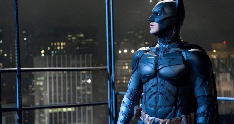 Christian Bale nei panni del Cavaliere oscuro