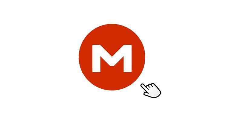 Screenshot del logo del servizio MEGA di Kim Schmitz