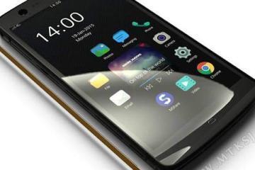 Immagine che mostra lo smartphone Manta X7 senza tasti fisici