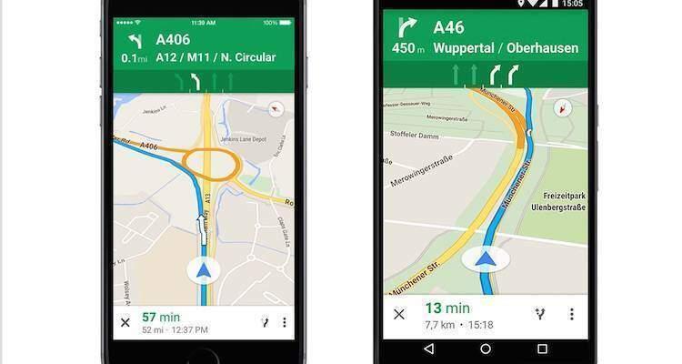 Google Maps, indicazioni per le corsie disponibili anche in Italia