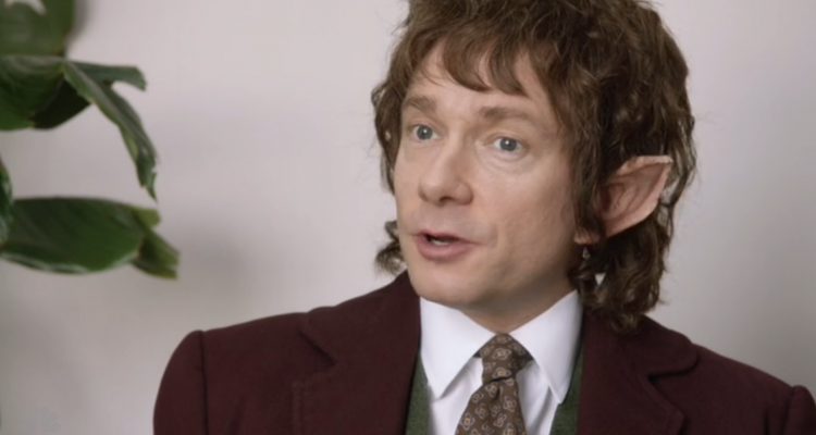 Bilbo nel crossover tra Lo Hobbit e The Office