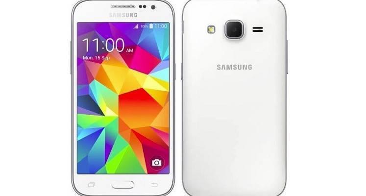 Immagine frontale e posteriore di Galaxy Core Prime