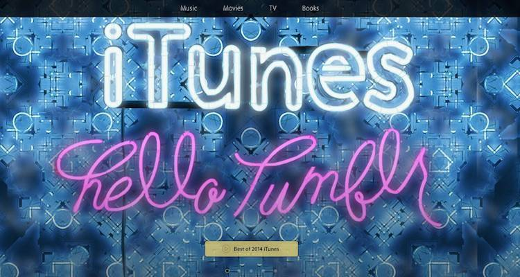 Screenshot dell'account Tumblr di Apple dedicato a iTunes