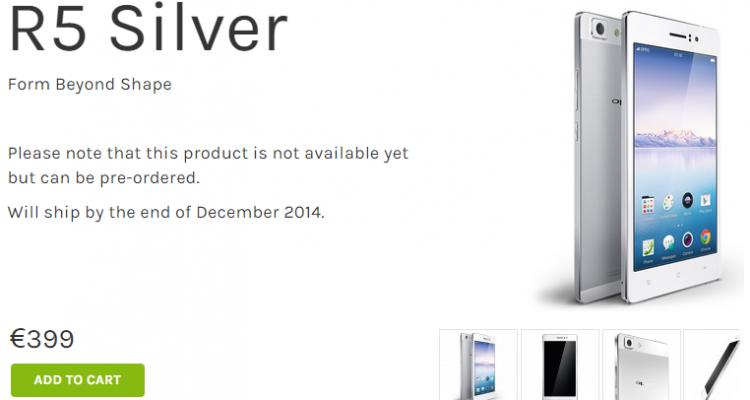 Oppo R5 è disponibile al pre-ordine