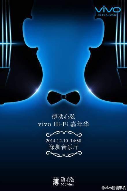 Locandina sulla presentazione di Vivo X5 Max