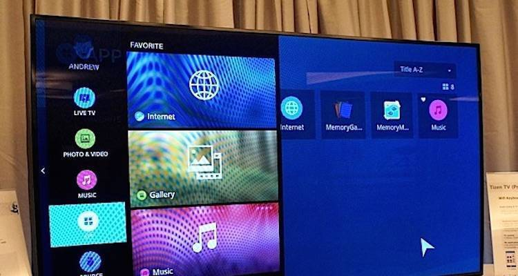 Foto di una smart Tv Samsung Tizen