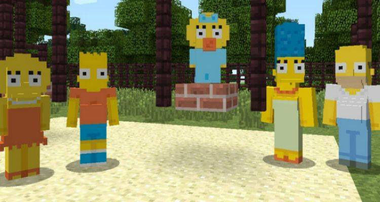 Simpsons su Minecraft.