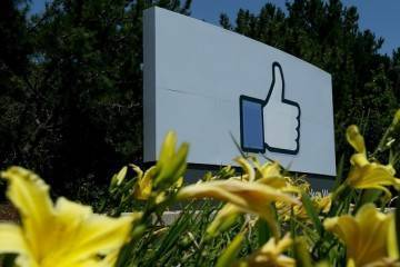 Cartellone adiacente sede di Facebook