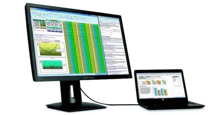 Immagine che mostra il nuovo monitor 5K di HP che verrà presentato al CES 2015