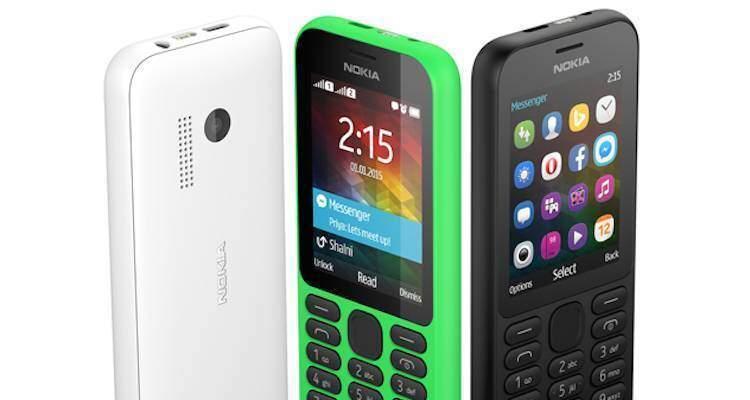 Microsoft annuncia il Nokia 215, lo smartphone da 29 dollari