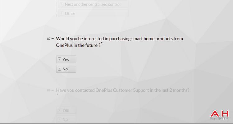 Questionario di OnePlus diretto ai suoi clienti