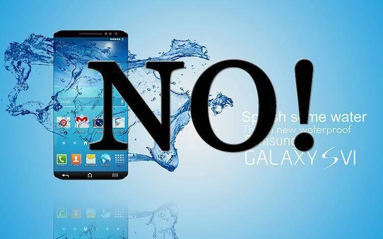 Il Samsung Galaxy S6 non sarà impermeabile!