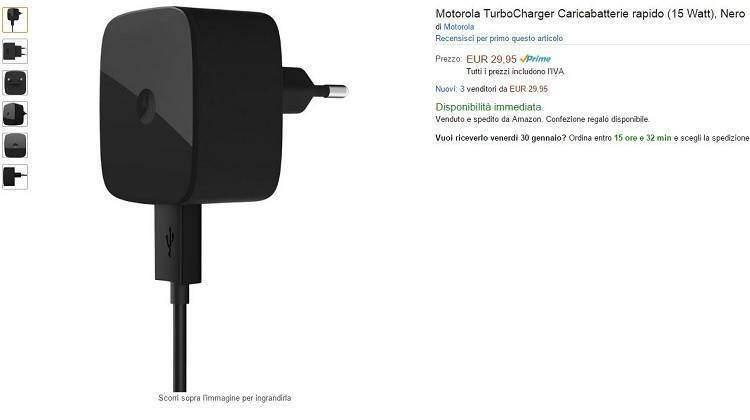 Motorola Turbo Charger disponibile su Amazon, ecco i modelli compatibili!