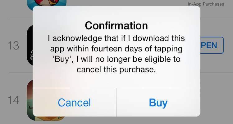 Screenshot che mostra l'impossibilità di richeidere altri rimborsi su App Store per i successivi acquisti