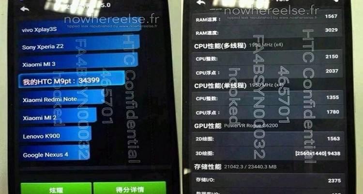 HTC M9pt: i primi benchmark AnTuTu